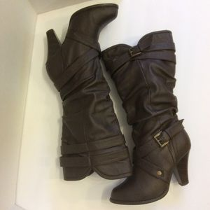 Rampage Ibran Mid Calf Boots Size 6.5M Brown